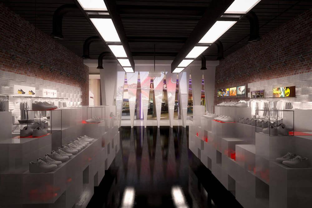 Retail interior Design for Puma Stores