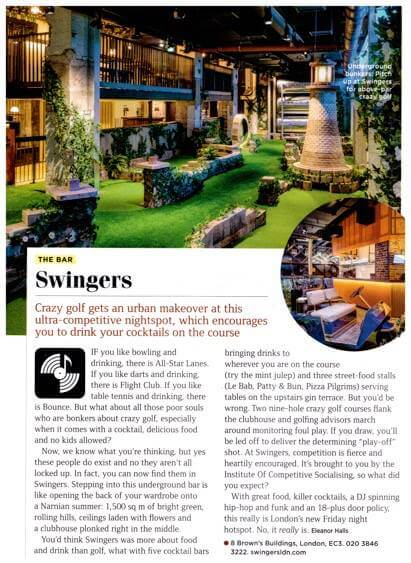 Swingers in GQ magazine